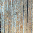 Royalty-Free Stock Photo: Blue old painted wooden fence, naturally weathered