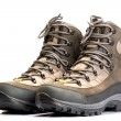 Stock Photo: A pair of new hiking boots on white background
