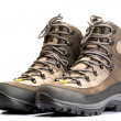 A pair of new hiking boots on white background — Stock Photo