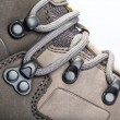 Stock Photo: Laces on mountain boots