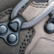 Laces on mountain boots — Stock Photo