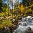 Autumn landscape mountain river — Stock Photo