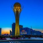 Постер, плакат: Astana Kazakhstan 24 August: The symbol of Kazakhstan Baytire