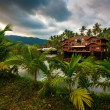 Beautiful hotel in the tropics — Stockfoto