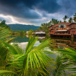 Beautiful hotel in the tropics — Stock Photo