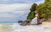 девочка на пляже — Стоковое фото