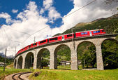 World famous swiss train — Stock Photo
