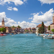Zurich and river Limmat, Switzerland — Stock Photo #13596601