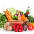 Vegetables in a basket — Stock Photo #13596814