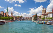 Zurich and river Limmat, Switzerland — Foto Stock