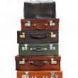Pyramid from old suitcases — Stock Photo #15682949