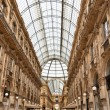Famous galleria Vittorio Emanuele II - Stock Photo