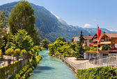 Interlaken, suíça — Foto Stock