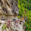 Repair of the mountain road — Stock Photo