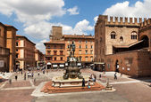 Fountain of Neptune in Bologna. Italy. — Stock Photo