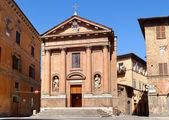 Antik kilise chiesa di san cristoforo Siena, İtalya — Stok fotoğraf
