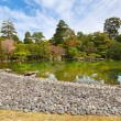 Garden in imperial palace, Kyoto, Japan - Stock Photo