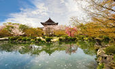Temple in Kyoto in spring, Japan — Stock Photo