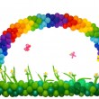 Rainbow from balloons — Stock Photo