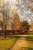 Autumn Novodevichy Monastery in Moscow, Russia. — Stock Photo