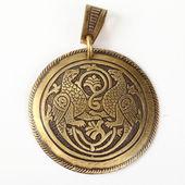 Medallón de cobre — Foto de Stock