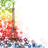 Eiffel tower isolated over the white background — Stock Vector