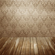 Room with old wallpaper — Stock Photo #21103025