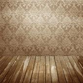 Quarto com papel de parede velho — Foto Stock
