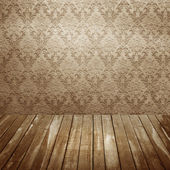 Room with old wallpaper — Stock Photo