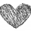 Stock Photo: Hand drawn, crayon heart shape