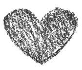 Hand drawn, crayon heart shape — Φωτογραφία Αρχείου