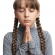 Girl praying, isolated — Stock Photo #42837261