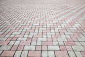 Stone street road pavement texture — Stock Photo