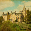 Retro image of Blair Drummond house — Stock Photo