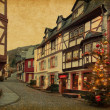 Christmas Eve in Bernkastel-Kues, Germany. — Stock Photo