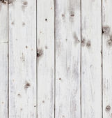 Old wooden board painted white. — Foto de Stock