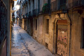Empty alleyway in Barcelona. — Stock Photo
