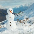 Happy snowman — Stockfoto
