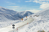 Road Through Snowy Mountains — Stock Photo