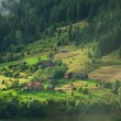 Beautiful rural landscape in the Carpathian Mountains — Stock Photo
