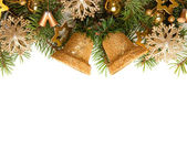Christmas frame for greeting card — Stock Photo