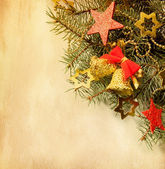 Background with Christmas border. — Stock Photo