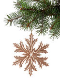 Christmas golden snowflake — Foto Stock