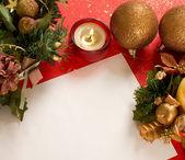 Decoraciones de Navidad en rojo — Foto de Stock