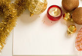 Christmas decorations on white — Stock Photo