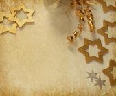 圣诞复古边框. — 图库照片