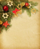 Christmas vintage border. — Stock Photo