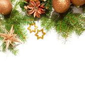 クリスマスの境界線 — 图库照片