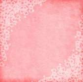 Pink paper with hearts — Stock Photo
