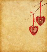 Dvě červené srdce — Stock fotografie